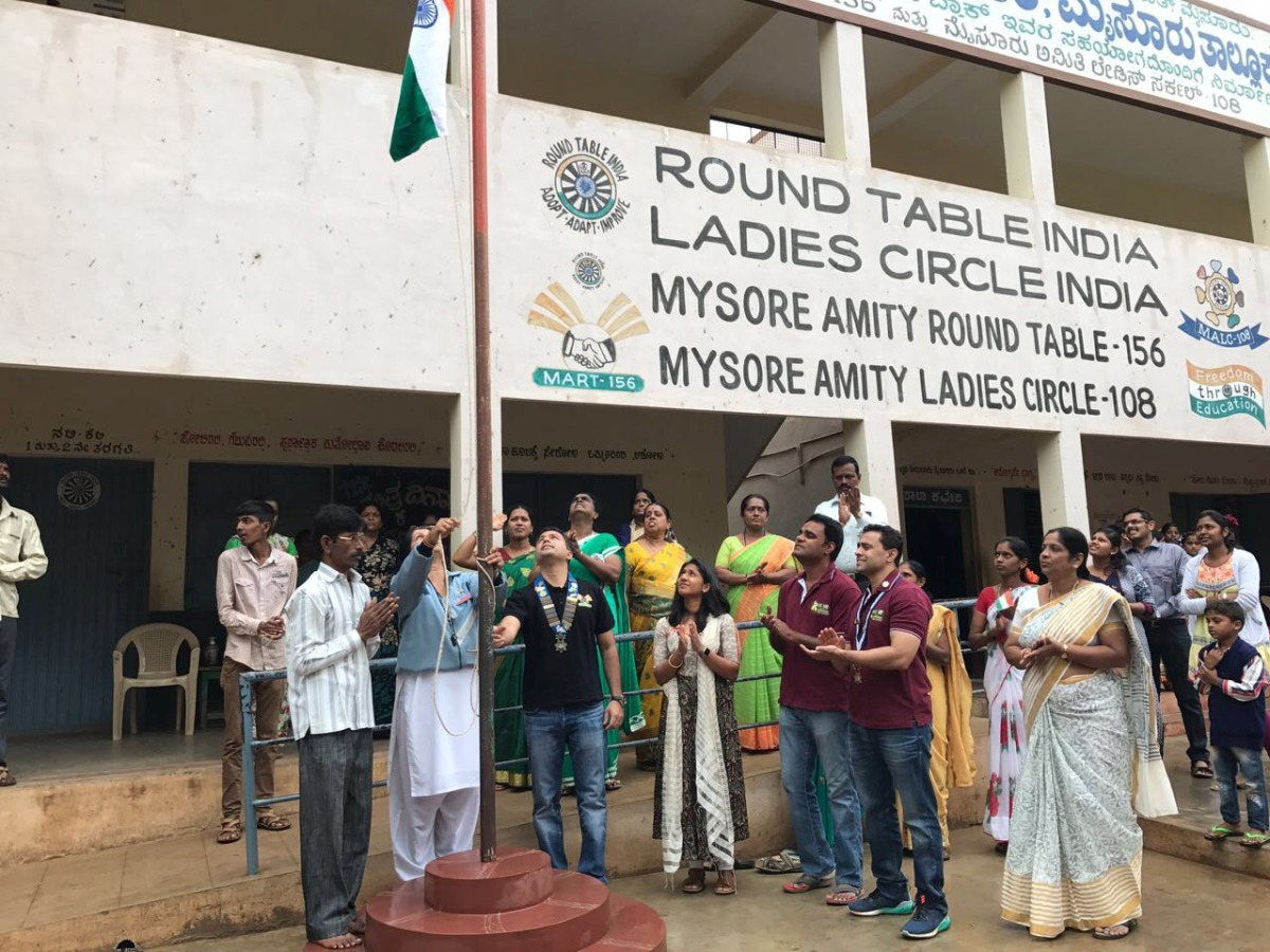 Flag Hoisting & Book Donation