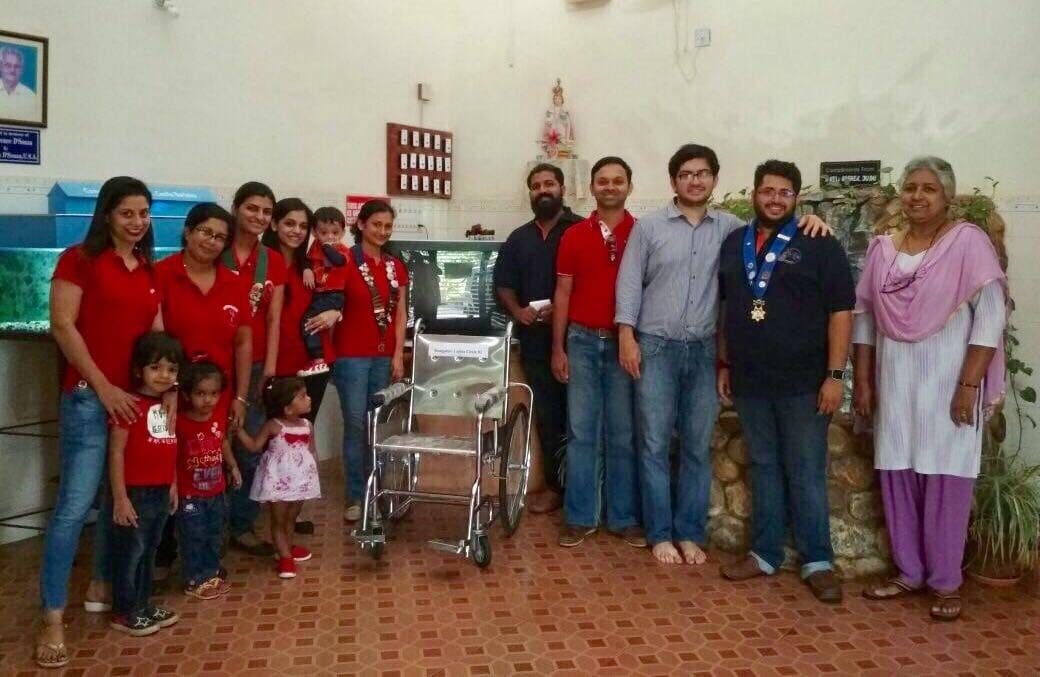 Wheel Chair & Tv Donation