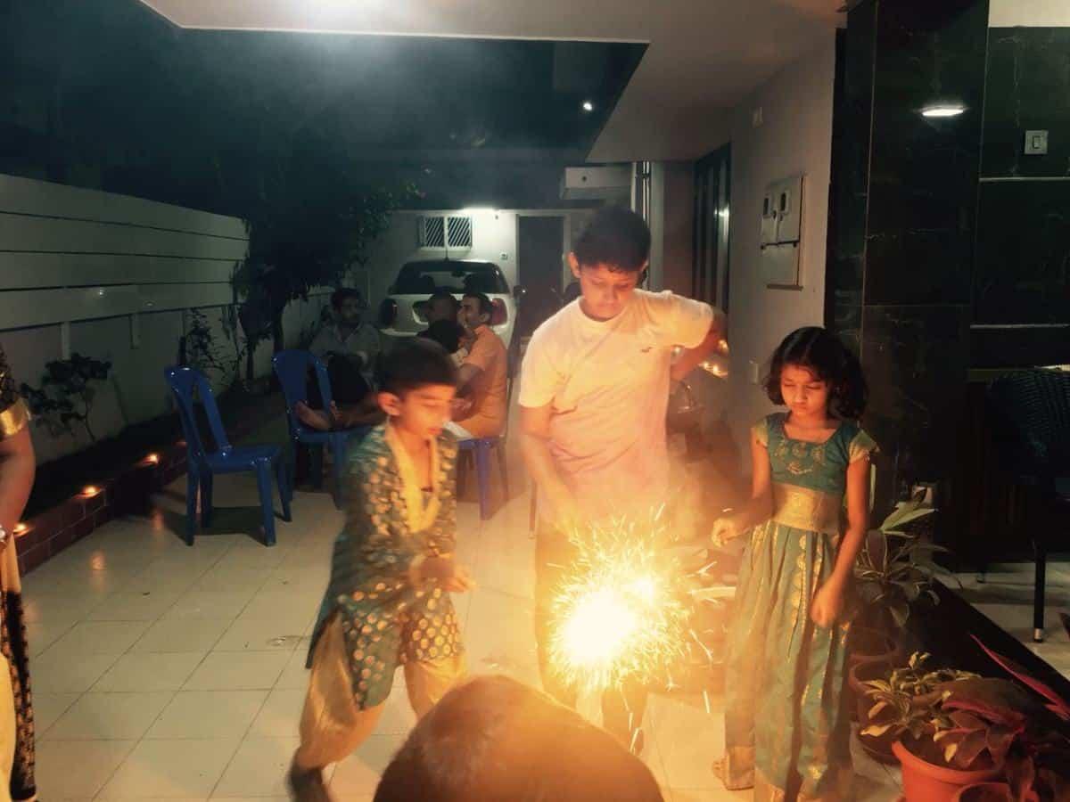 Diwali celebration at Tr.Suresh house