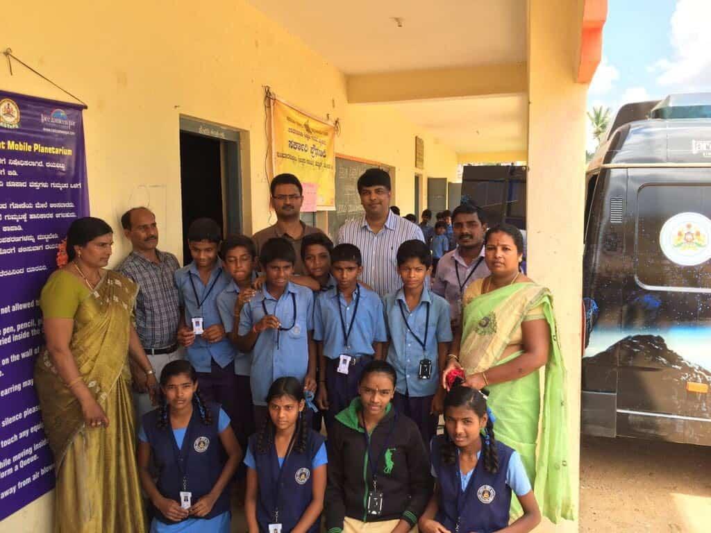 Kumbarakoppal school ID tag Distribution