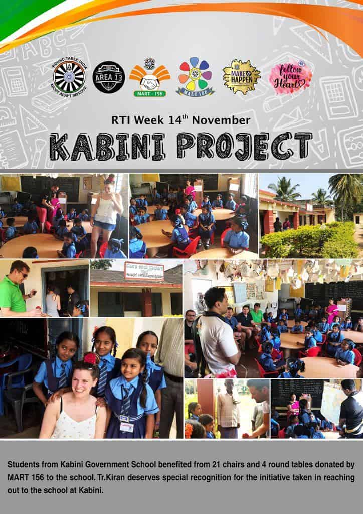 Table and Chair Donation to Kabini Govt. School