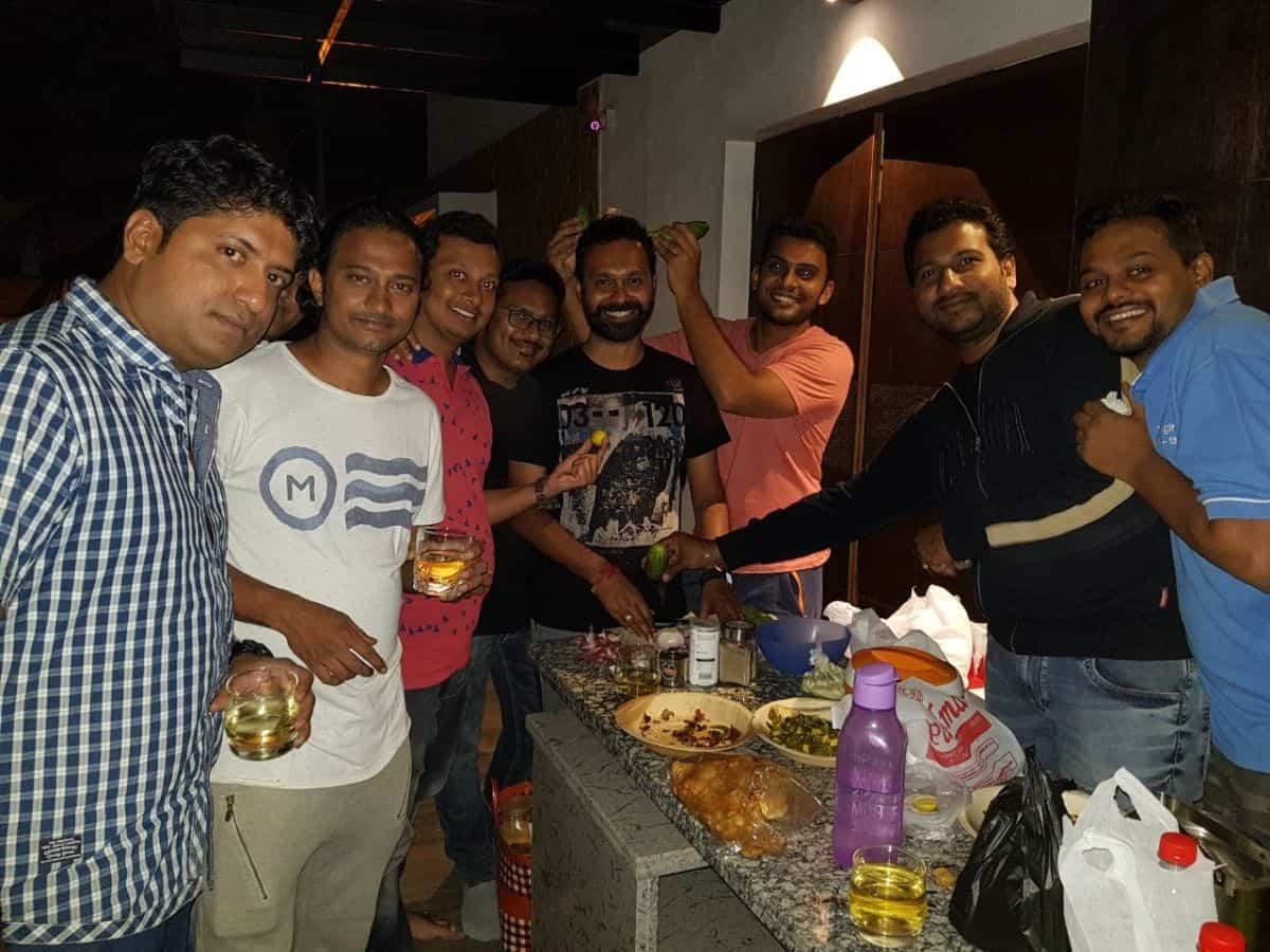 Midnight madness at tr Aditya's house