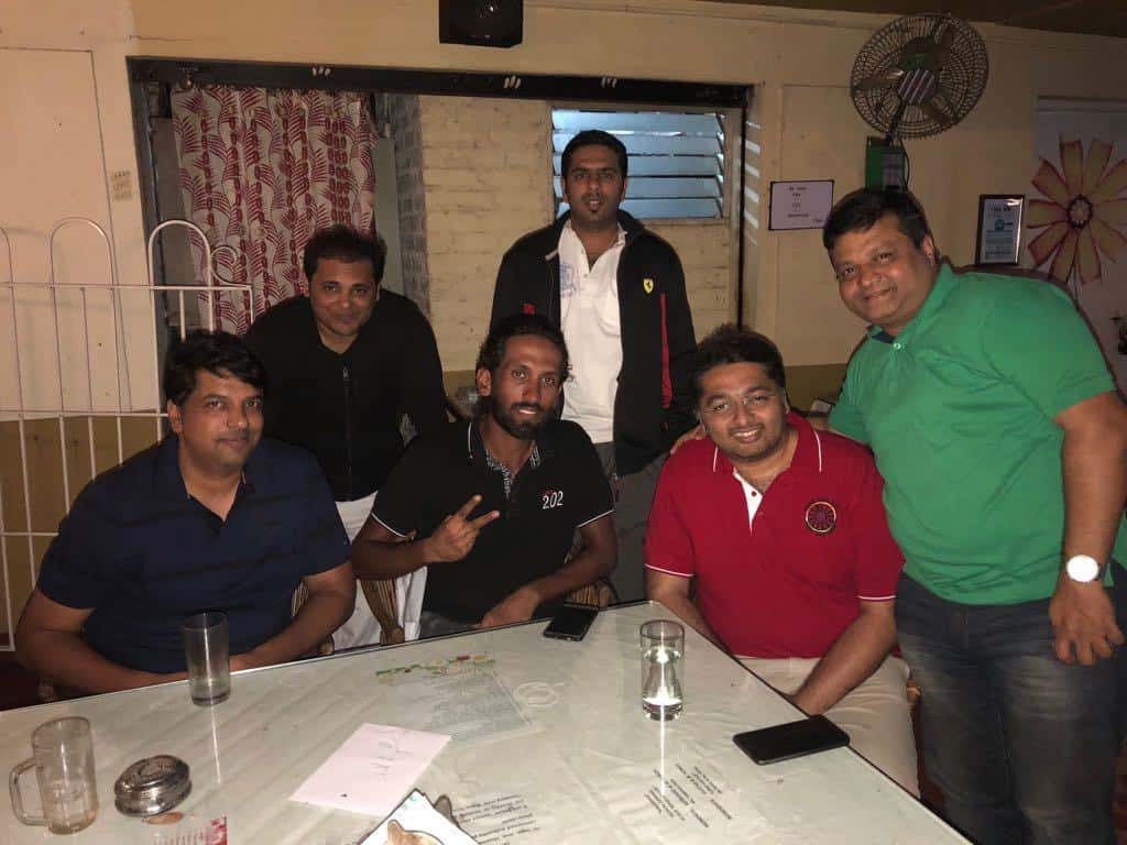 Meeting up with cyclists Ankith Arora