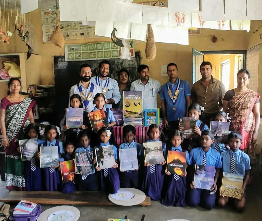 Donation of Library Books at Honnapura School
