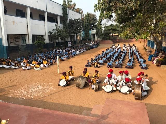 Republic Day celebrations at Kanakagiri School