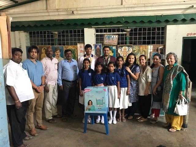 Chamundi school water purifier donation