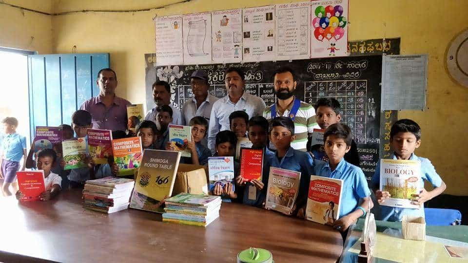 Donation of Library Books at Govt Primary Boys School Holehonnur