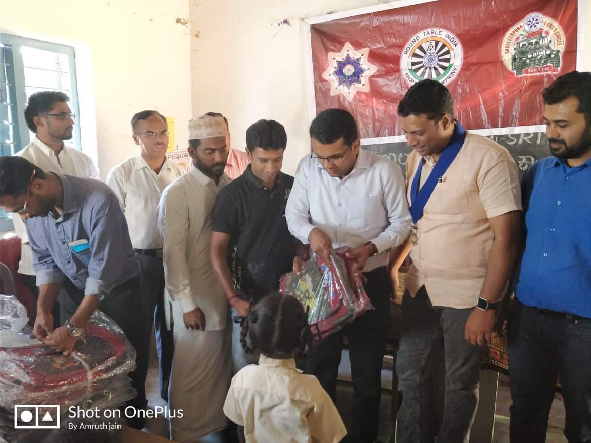 School bag donating Kolahalli Govt. Schoo
