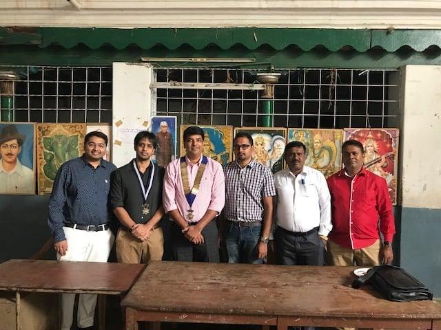 Chamundi School new class room block ground breaking ceremony