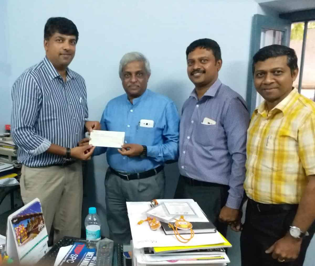 Donation to Mysore Rotary Midtown 2 incinerators for sanitary pad disposal