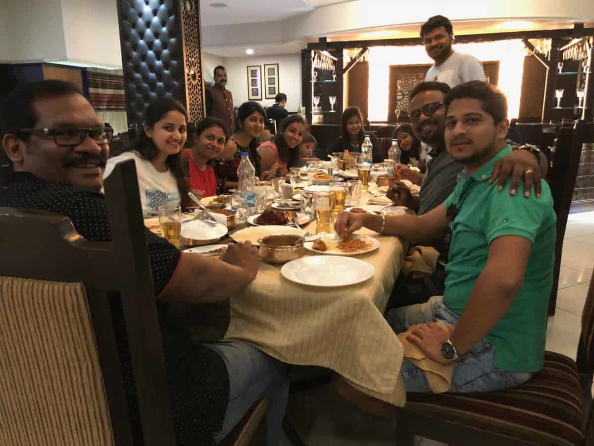 Lunch in Mangalore Before Aex