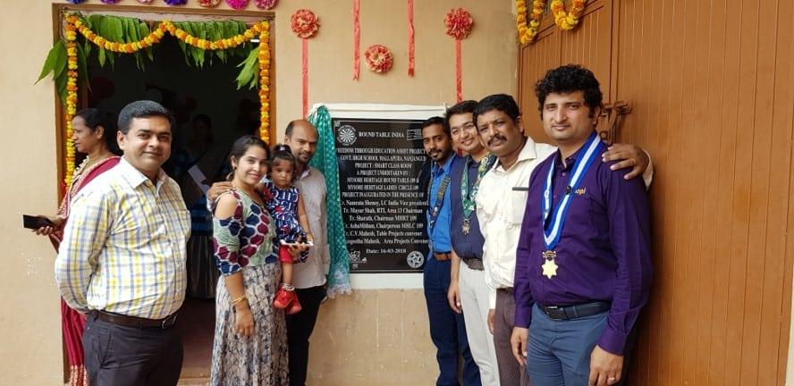 Smart class inauguration at Malupura Govt School, Nanjangud