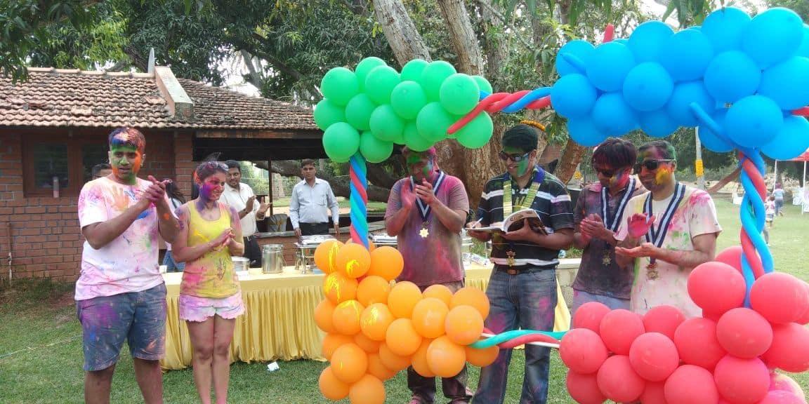 Nikhil and Harshita's Holi Socials