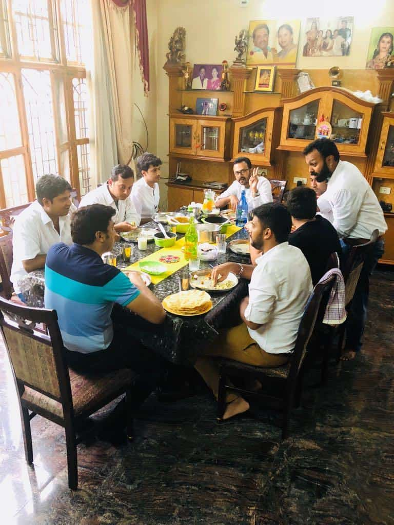 Lunch fellowship with NP in Varun's place
