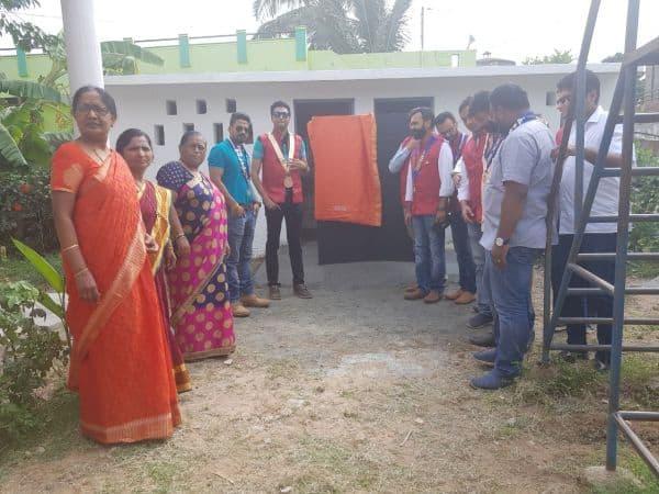 Inaguration of Renovated Toilet Blocks @ Gadikoppa School