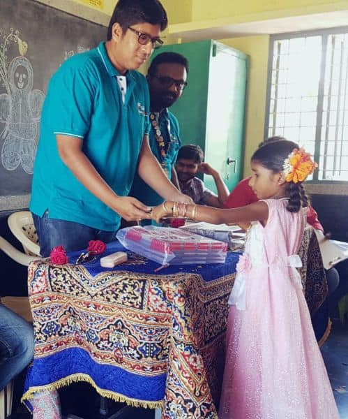 Sharada Pooja in Adopted School
