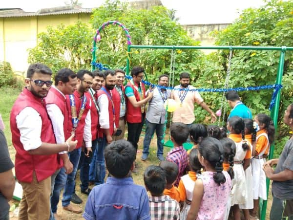 Installation of Outdoor Play Articles & RO Water Purifier @ Javalli School