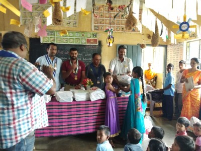 Books & Articles Donation at Honnapura School