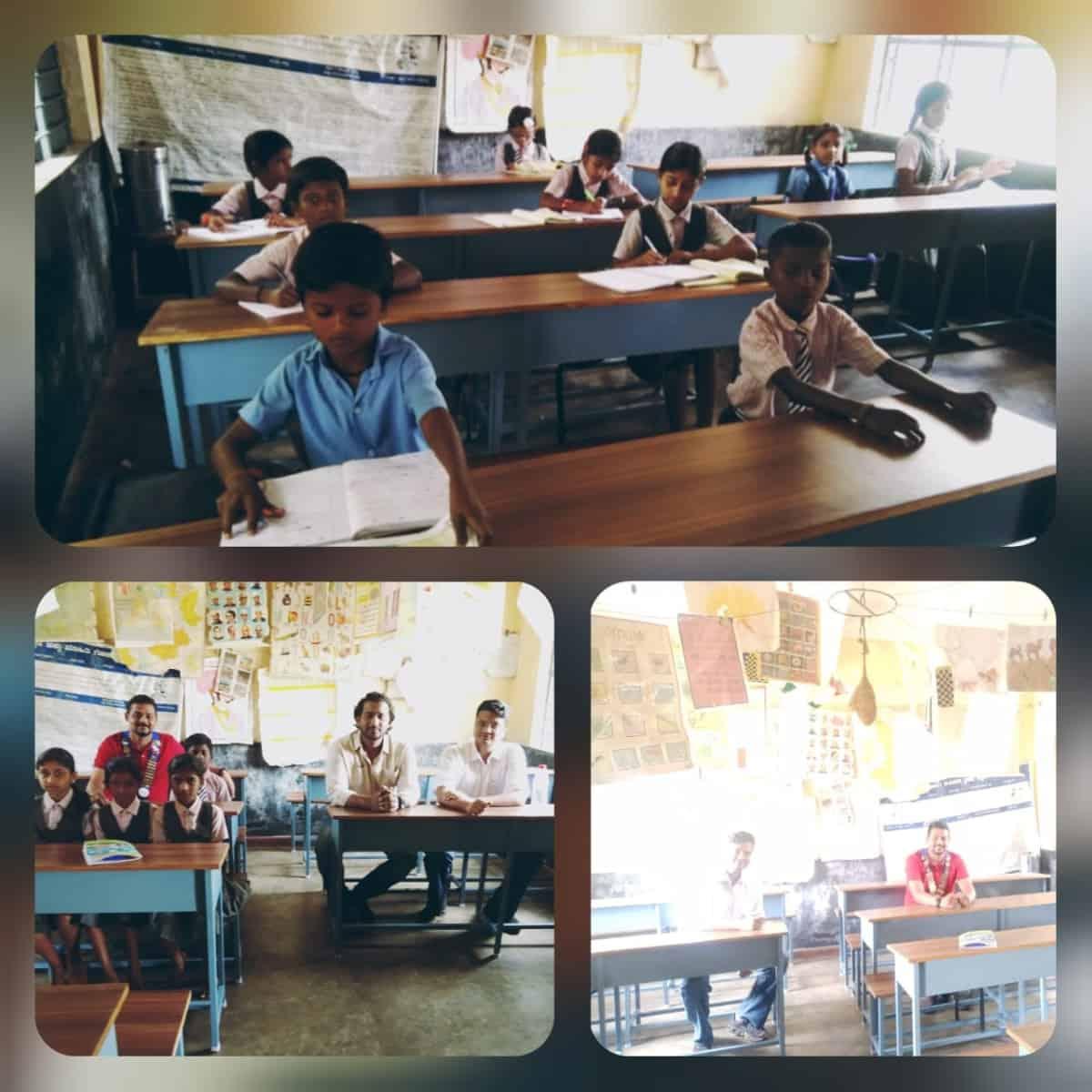Donation of Benches & Desk @ Honnapura School