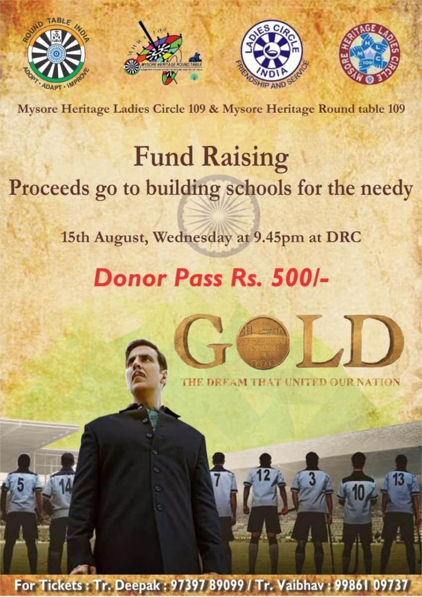 Gold Movie Fund Raiser