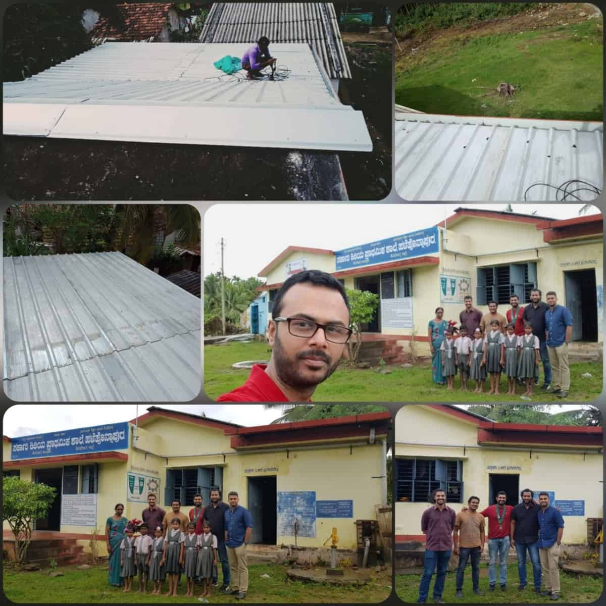 Metal Sheet Roofing for Honnapura School