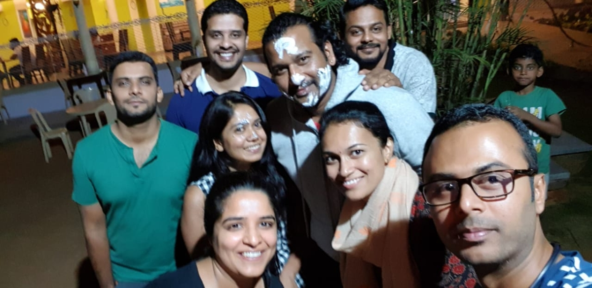 Tablers celebrated Tr,Avinash bday at ASHOKA HOTEL hassan.