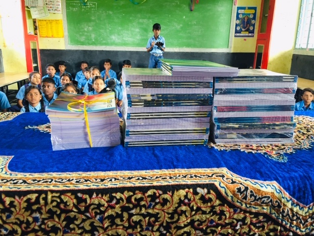 Book donation at Gutiyappa Colony Government School