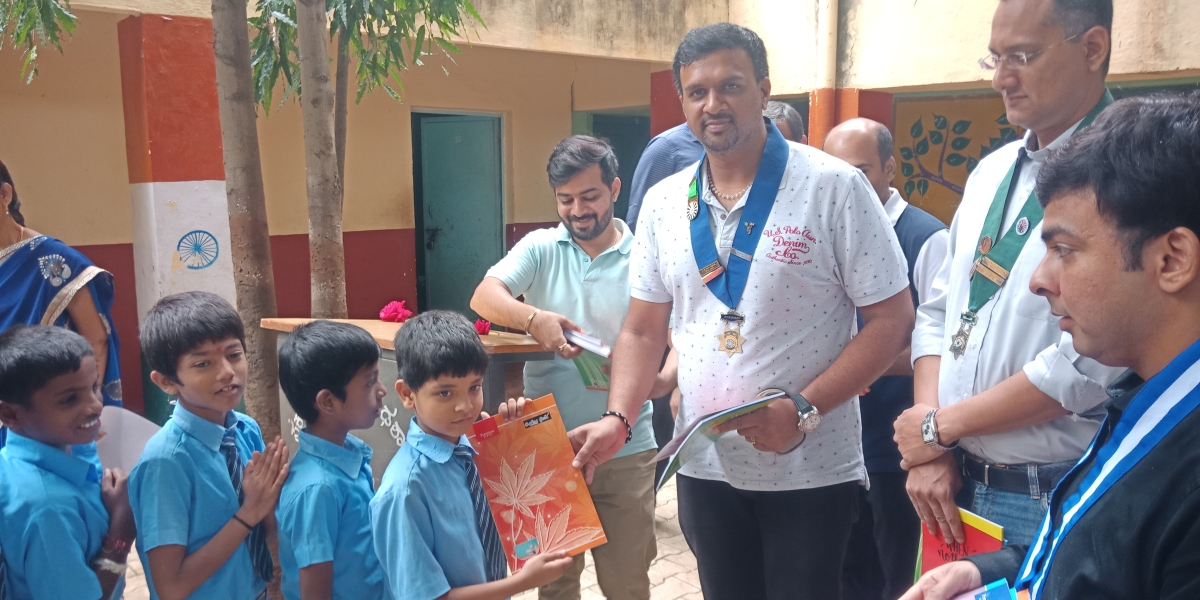 Donation of Books and Chocolates by MHRT 109