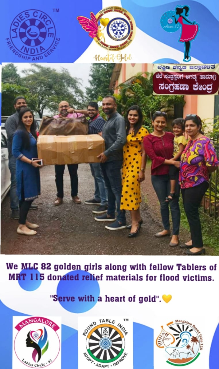 Flood Relief donation to District Administration