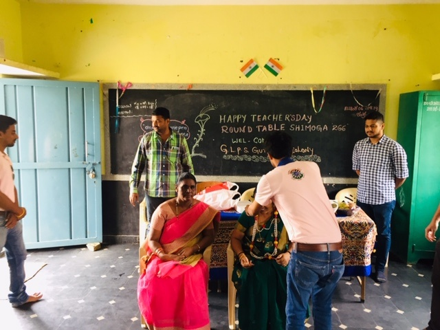Teachers day at Gutiyappa govt school
