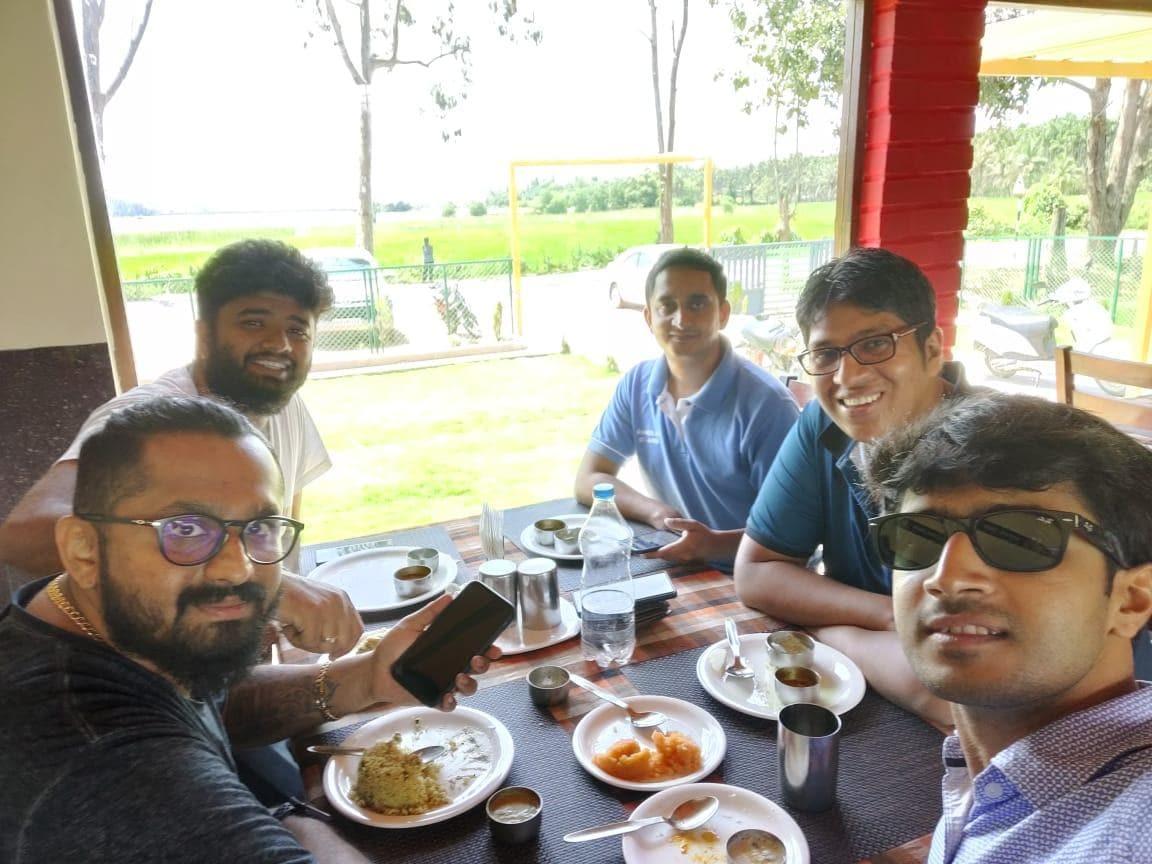 Breakfast fellowship at NAMO upahar Gajnur