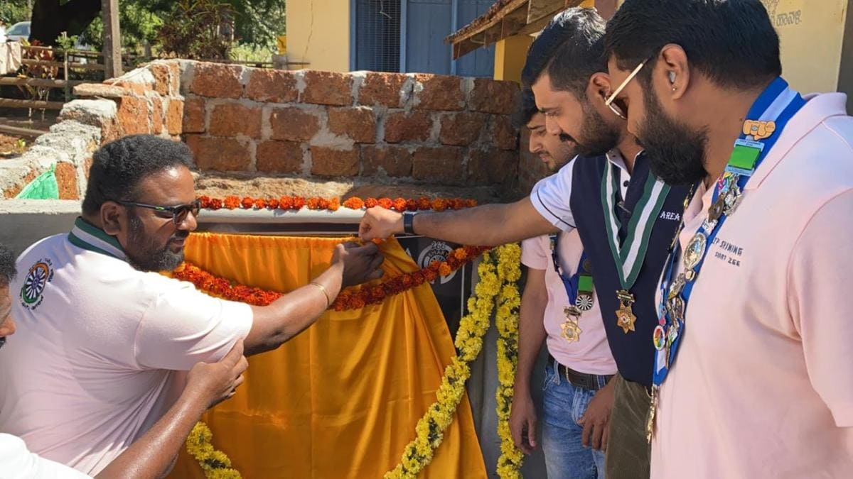Inauguration of the Pavers Block at Begavalli Govt School